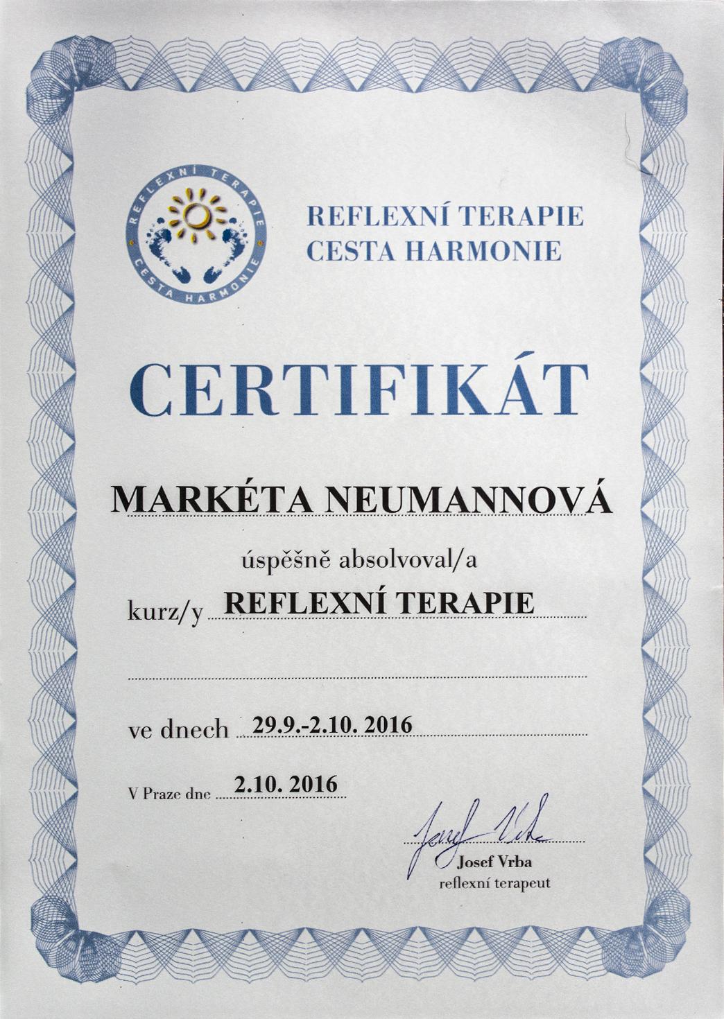 certifikaty-a-odbornosti-marketa-neumannovalecitelka-terapeutkamasazebiorezonancedetoxikacefrekvencni-terapie-benatky-nad-jizeroureflexni-terapie