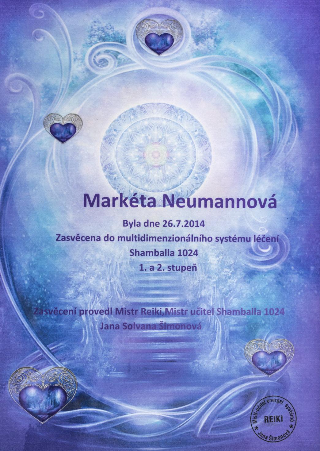 certifikaty-a-odbornosti-marketa-neumannovalecitelka-terapeutkamasazebiorezonancedetoxikacefrekvencni-terapie-benatky-nad-jizerouzasveceni-do-systemu-shamballa-1024